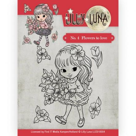 LLCS10004 ~ No.4  Flowers of Love stamp ~ Lilly Luna ~ Yvonne Creations